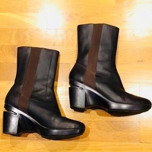 Cole Haan NikeAir High Heeled Brown Chelsea Boots